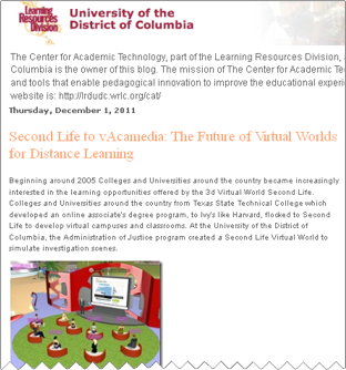 Second Life to vAcamedia: The Future of Virtual Worlds for Distance Learning